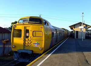 Railcar - A 3-car train of 2000 class railcars in suburban Adelaide, Australia