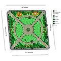 3 Planul parcului Luigi Cazzavillan, cu fântâna în mijloc.jpg