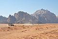 4x4 pickups at Wadi Rum (12464784523).jpg