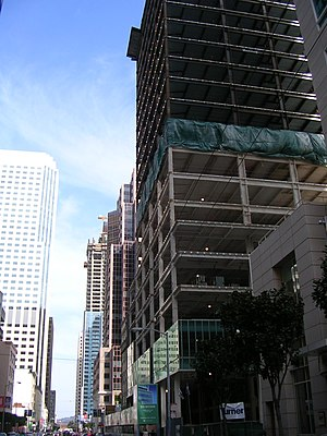 Mission Street - High rises under construction along Mission Street in the Financial District in 2007