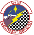 566 Operations Support Sq (later 566 Information Operations Sq, 566 Intelligence Sq) emblem.png