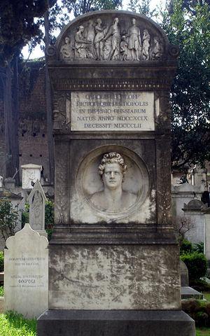 Надгробие Карла Брюллова на Римском протестантском кладбище