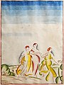 81 - Les trois grâces - Georges Gaudion - Encre et aquarelle sur papier - Musée du Pays rabastinois - inv.D.2008.18.1.jpg