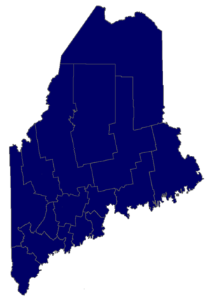 United States Senate election in Maine, 1988 - Image: 82Maine Gov Counties