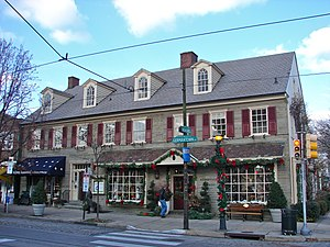 "Chestnut Hill, Philadelphia - Old ""Cress Hotel"", 8501 Germantown Avenue, Chestnut Hill."