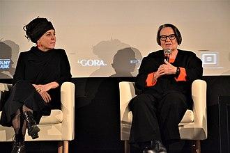 Olga Tokarczuk - Tokarczuk and Agnieszka Holland, 2017