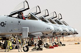 A-10 Thunderbolt II de l'US Air Force en juillet 2009.