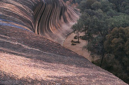 View from the top A198, Hyden, Western Australia, Wave Rock, 2007.JPG