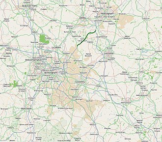A42 road (England) - Image: A42 road map