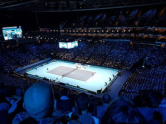 The O2 Arena - O2 Arena hosting a tennis match