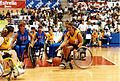 AUS-USA women's basketball match, 1992 Paralympics.jpg