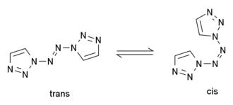 1,1'-Azobis-1,2,3-triazole - Image: AZB Tcistrans