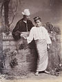 A Burmese man and girl holding hands in 1906.jpg
