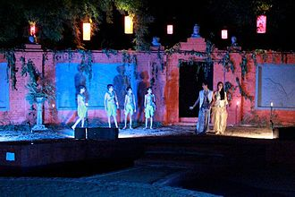 A 2010 production of the play at The Doon School, India A Midsummer Night's Dream at The Doon School.jpg