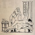 A naked young woman being massaged by a salacious old man. R Wellcome V0011650.jpg