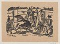 A picador on horseback stabbing a bull MET DP869248-1.jpg