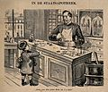 A small boy at an apothecary's shop. Reproduction of a litho Wellcome V0011926.jpg