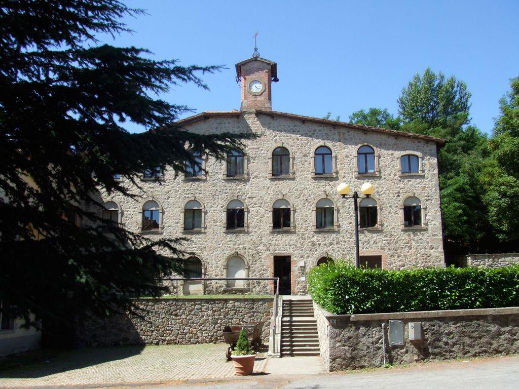 La torre dell'Orologio sede del Museo minerario di Abbadia San Salvatore