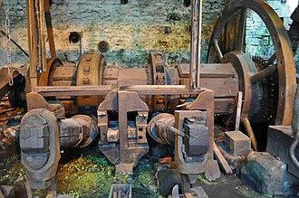 Abbeydale Industrial Hamlet - Water-powered, belt-driven machinery, Abbeydale Industrial Hamlet