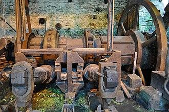 Trip hammer - Water-powered hammers at Abbeydale Industrial Hamlet
