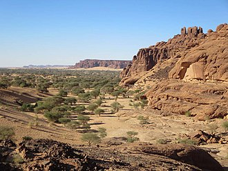 Chad - Ennedi Plateau in northeastern Chad