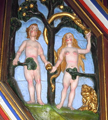 English: Adam and Eve in the Garden of Eden, S...