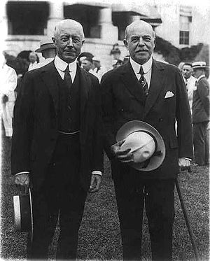 Charles Francis Adams III - Adams (left) with Speaker Longworth on the White House lawn, 1929.