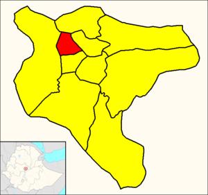 Addis Ketema - Image: Addis Ketema (Addis Ababa Map)