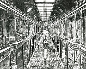 Adelaide Arcade - The Arcade 1886 engraving