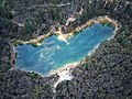 Aerial top-down perspective of Creswick's Blue Waters lake.jpg