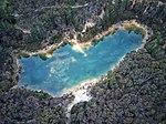 Aerial top-down perspective of Creswick's Blue Waters lake.jpg