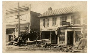 Great Dayton Flood - View of aftermath of the 1913 flood