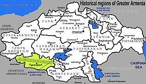 Arzanene - The location of Aghdznik in Greater Armenia