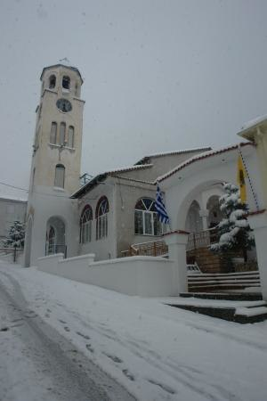 Servia, Greece - The church of Saint Kyriake, the parton Saint of the town of Servia.