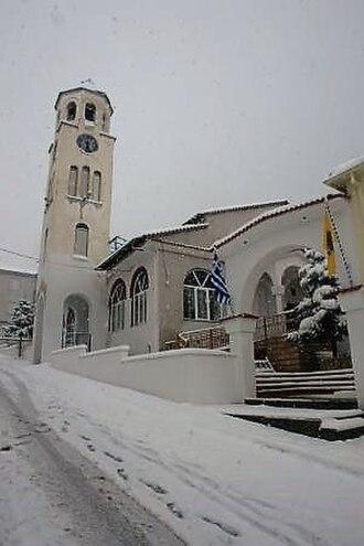 Servia, Greece - The church of Saint Kyriake, the parton Saint of the town of Servia.