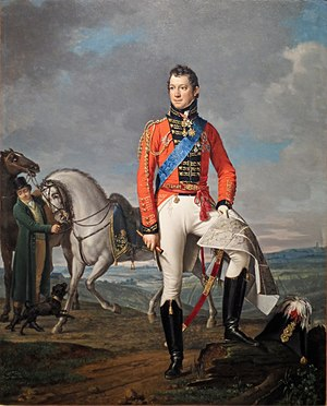 Charles, Count Alten - General von Alten auf dem Schlachtfeld von Waterloo