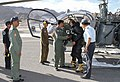 Air Commodore SP Wagle VM, Air Officer Commanding, Air Force Leh on Tarmac after casualty evacuation of American national at Air Force Station Leh on August 26, 2011.jpg