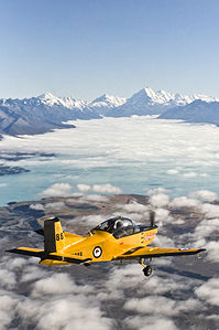 Air Force Air Trainer and Mt Cook - Flickr - NZ Defence Force.jpg