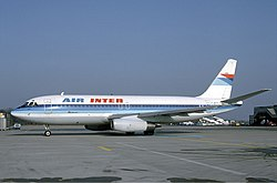 Air Inter Dassault Mercure at Basle - February 1985.jpg