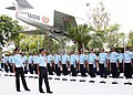 Air Marshal Arup Raha inspecting the guard of honour on taking over as Air Officer Commanding in Chief of Western Air Command, in New Delhi on June 01, 2012.jpg