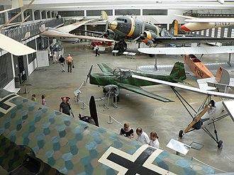 Deutsches Museum Flugwerft Schleissheim - Piston engined aircraft on display
