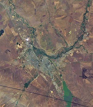 Aktobe - Aktobe and vicinities (ESA Sentinel-2 satellite image)