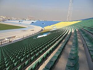 Al-Shaab Stadium - Stands of Al-Shaab Stadium in December 2010
