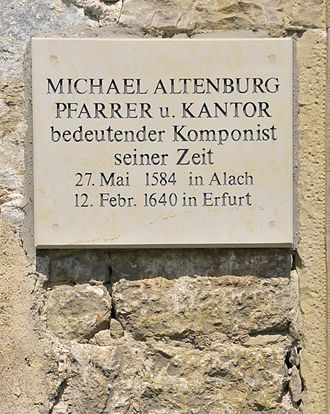 Michael Altenburg - Altenburg Church plaque