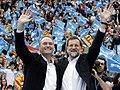 Alberto Fabra y Rajoy clausuran el mitin central del PPCV en la Plaza de Toros de Valencia.jpg