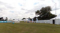 Aldenham Country Park event field with tents, toilet units, and Heras fencing.jpg