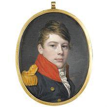 Miniaturporträt (6,5×5 cm) eines jungen Offiziers, ca. 1805 (Quelle: Wikimedia)