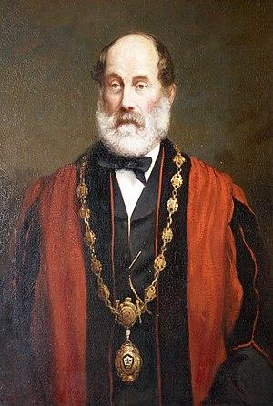 Henry Jamyn Brooks - Image: Alderman Nathaniel Chapple, Mayor of Torrington (1871, 1879 & 1889)