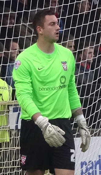 Alex Cisak - Cisak playing for York City in 2014