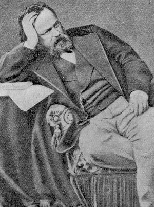 Sergey Lvovich Levitsky - Alexander Herzen, by Sergei Lvovich Levitsky,1860 (Private Collection of Alexei Loginov)